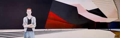 Museum Closed Christmas Day, 2014, Acrylic on Canvas, 40 x 120cm, $4.000